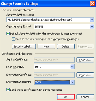 how to send encrypted email in outlook 2007