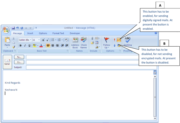 how to add your signature in outlook 2007